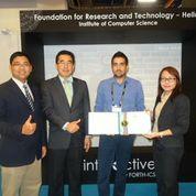Στιγμιότυπο από την απονομή του βραβείου Thailand Award for Best International Invention για το σύστημα iEat