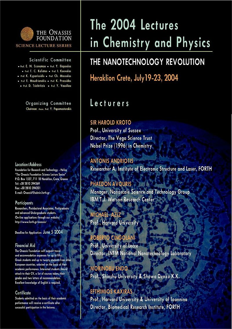 The 2004 Lectures in Chemistry and Physics: The Nanotechnology