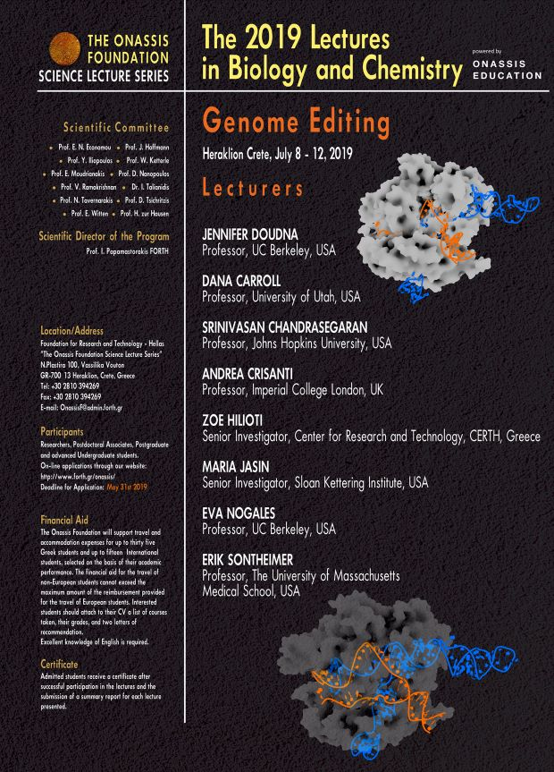 The 2019 Lectures in Biology and Chemistry: Genome Editing
